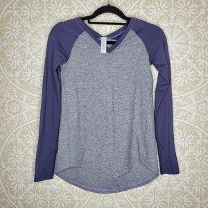 Ivivva Color Block Grey Purple Long Sleeve Top 12